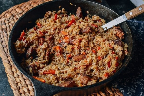 Xinjiang Lamb Rice, An Uyghur Food Favorite, by thewoksoflife.com