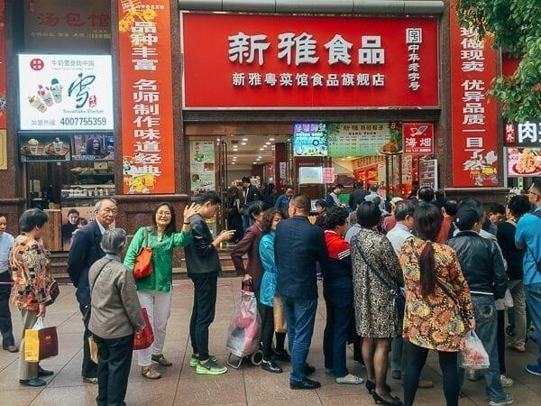 Judy waiting in line to buy zongzi  by thewoksoflife.com