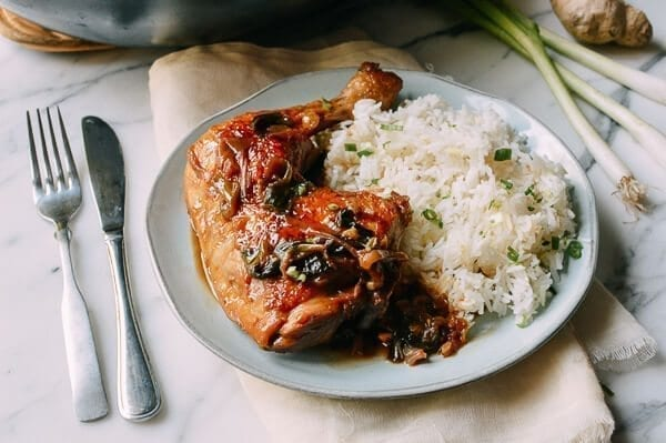 Oyster sauce chicken leg quarter with rice