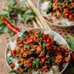 Thai Basil Chicken (Easy Gai Pad Krapow), by thewoksoflife.com