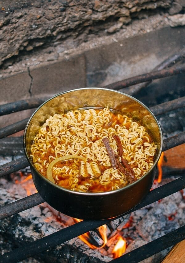 Campfire Curry Ramen, by thewoksoflife.com
