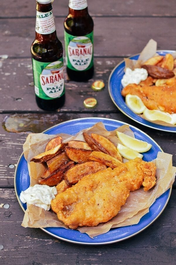 Beer Batter Fish Fry W Potato Wedges Tartar Sauce The