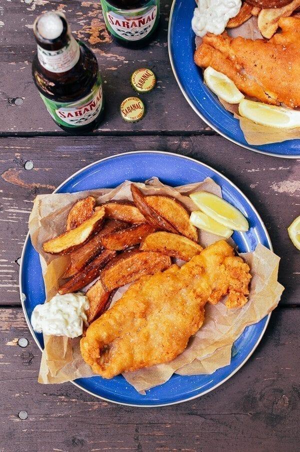 Beer Batter Fish Fry w/ Potato Wedges & Tartar Sauce