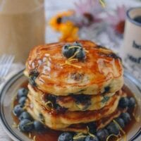 Best Blueberry Pancakes, by thewoksoflife.com