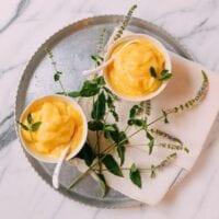 Guilt-free Frozen Mango Coconut Ices