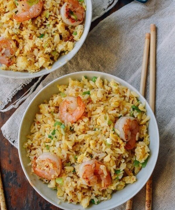 Ginger Garlic Shrimp Fried Rice, by thewoksoflife.com