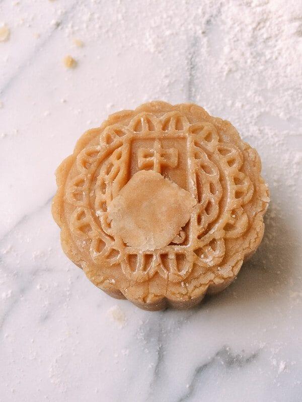 Lotus Mooncakes with Salted Egg Yolks, by thewoksoflife.com