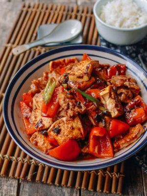 Hunan Pork and Tofu Spicy Stir Fry, by thewoksoflife.com