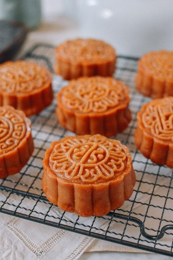 Lotus Mooncakes with Salted Egg Yolks, by thewoksoflife.com