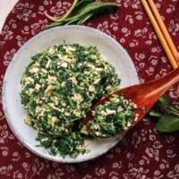 Ma Lan Tou & Spiced Tofu