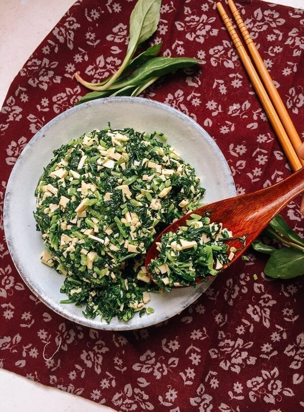 Ma Lan Tou Spiced Tofu, A Shanghai Favorite, by thewoksoflife.com