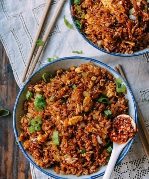 Soy Sauce Fried Rice, by thewoksoflife.com