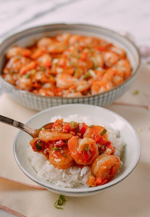 Szechuan Shrimp, by thewoksoflife.com