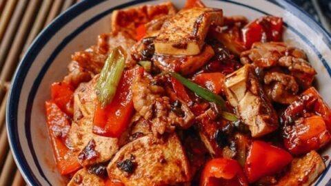 Hunan Pork and Tofu Spicy Stir Fry