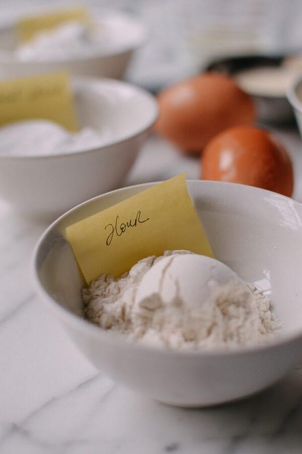 flour for Cantonese Steamed Custard Buns (Nai Wong Bao), by thewoksoflife.com