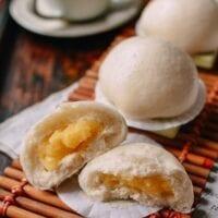 Cantonese Steamed Custard Buns (Nai Wong Bao)