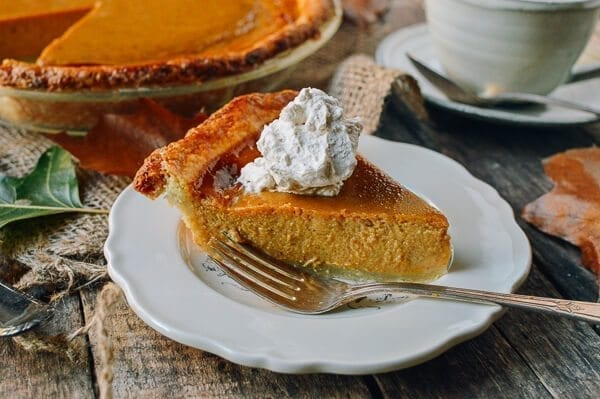 Butternut Squash Pie, by thewoksoflife.com