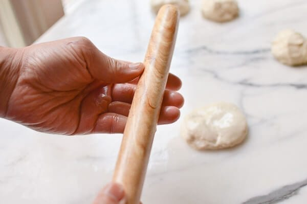 rolling pin for oiled dough , by thewoksoflife.com