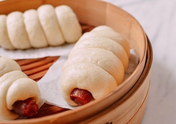 Chinese Sausage Buns, by thewoksoflife.com