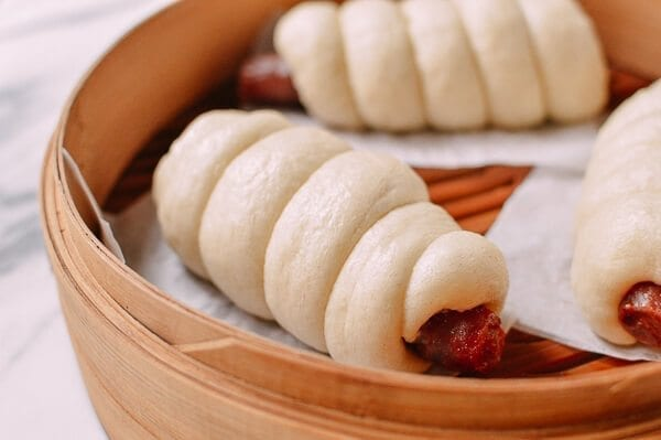 Chinese Sausage Buns, by thewoksoflife.com