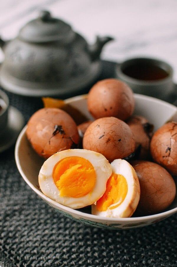 Chinese Tea Eggs, by thewoksoflife.com