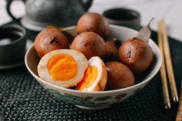 Chinese Tea Eggs, by thewoksoflife.com
