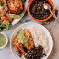 Peruvian Chicken & Green Sauce