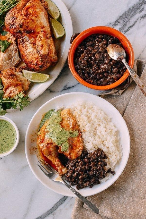 Peruvian Chicken Green Sauce The Woks Of Life