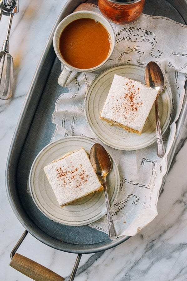 Pumpkin Tres Leches Cake, by thewoksoflife.com