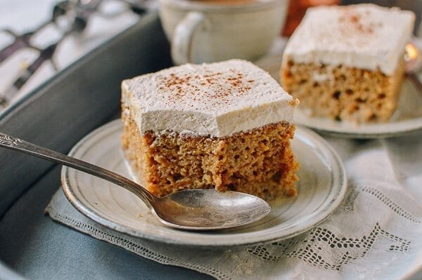 Pumpkin Tres Leches Cake, by thewoksoflife.com