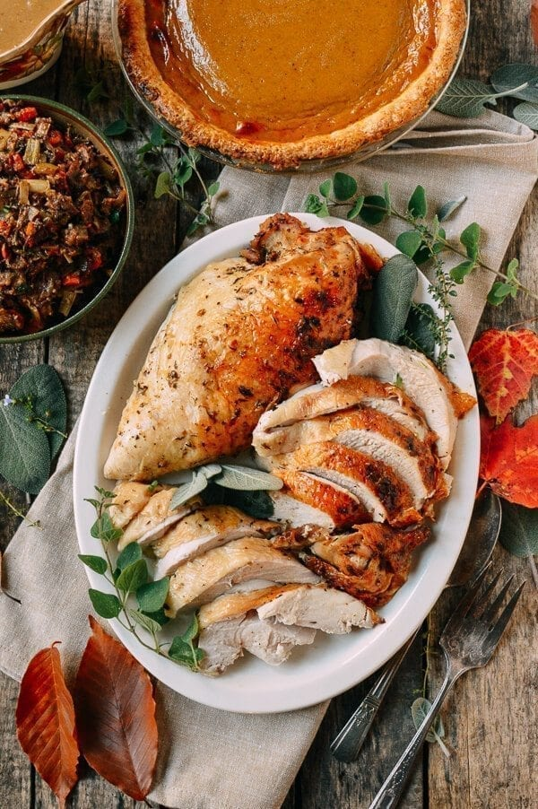 Herb Roasted Turkey Breast with Stovetop Stuffing