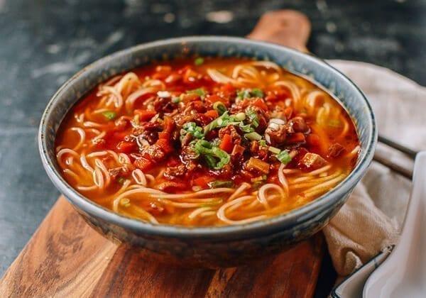 Shanghai Hot Sauce Noodles, by thewoksoflife.com