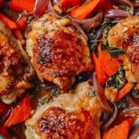 Thai Roasted Chicken Thighs, by thewoksoflife.com