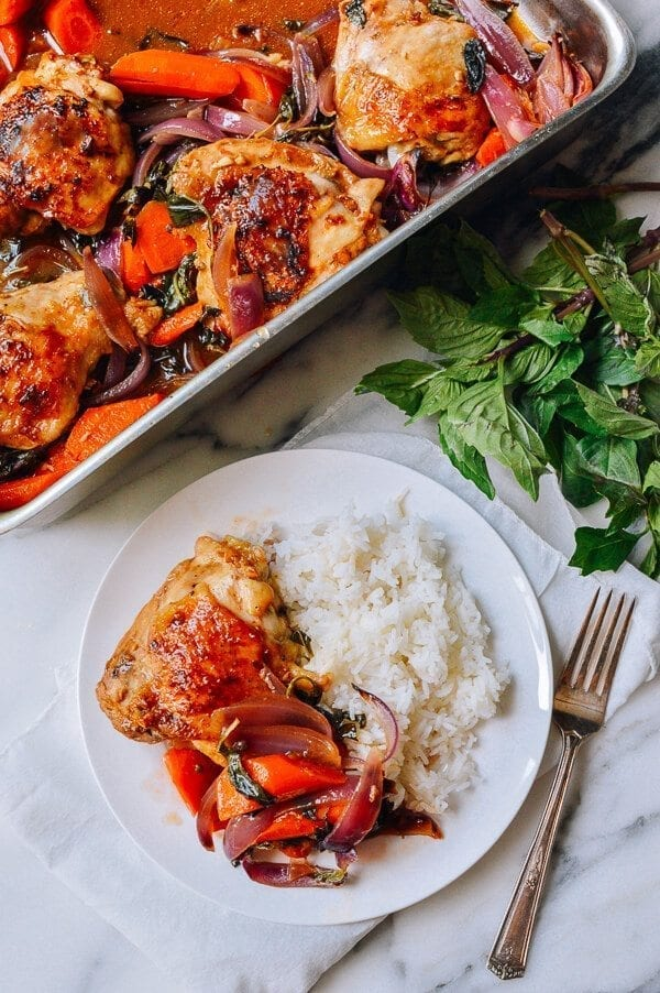 Thai Roasted Chicken Thighs Recipe The Woks Of Life