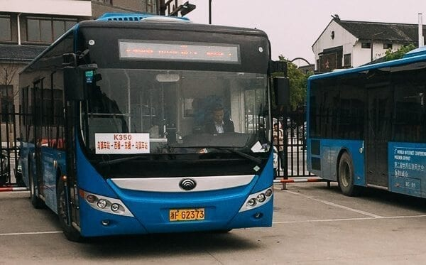 Bus 350 in Wuzhen