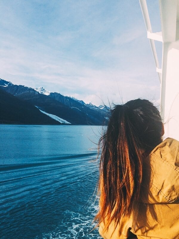 Looking out at Glacier Bay