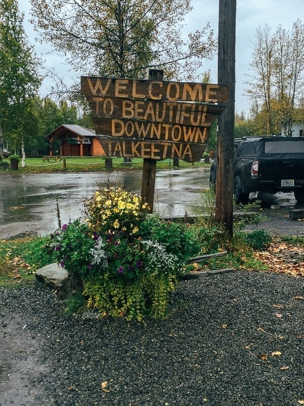 Talkeetna Welcome Sign