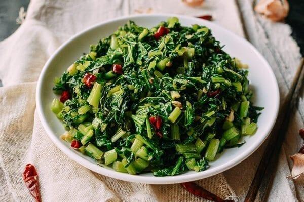 Chinese Mustard Greens, by thewoksoflife.com
