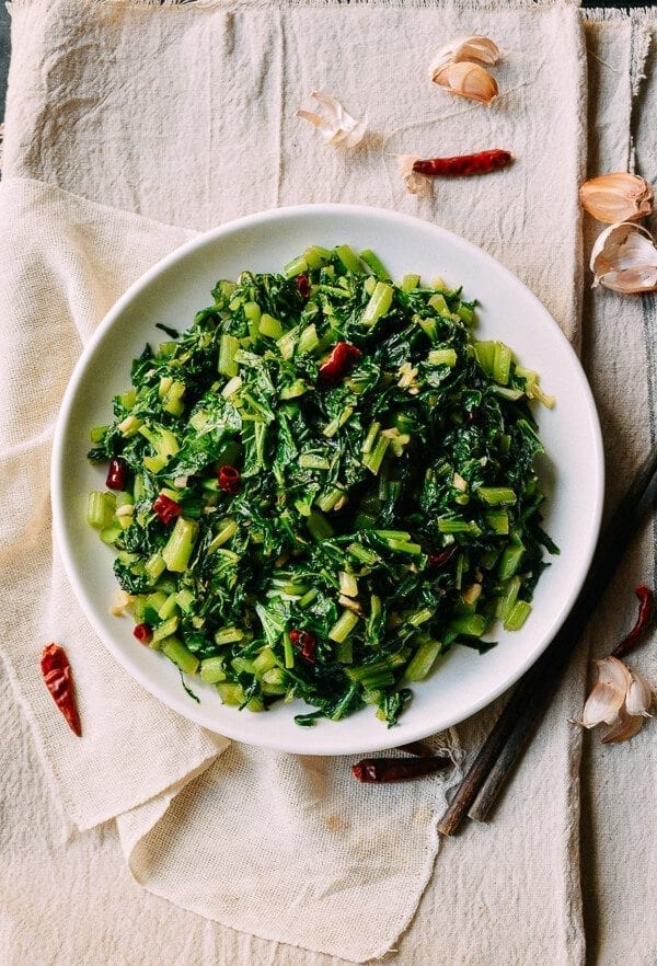 Chinese Mustard Greens, by thewoksoflife.com