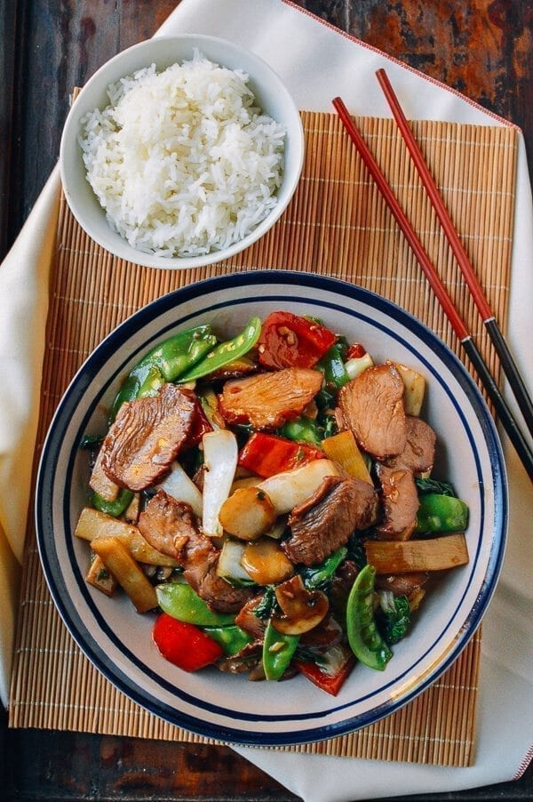 25 Last minute meals - Roast Pork with Chinese Vegetables, by thewoksoflife.com