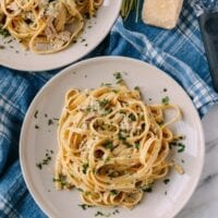 Chicken Fettuccine Alfredo with Roasted Garlic