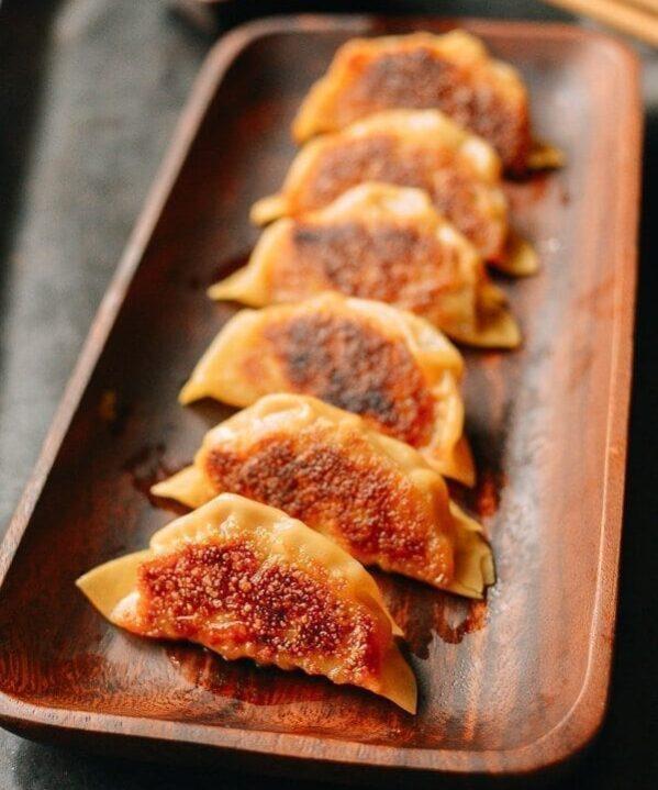 Japanese Gyoza Dumplings, by thewoksoflife.com