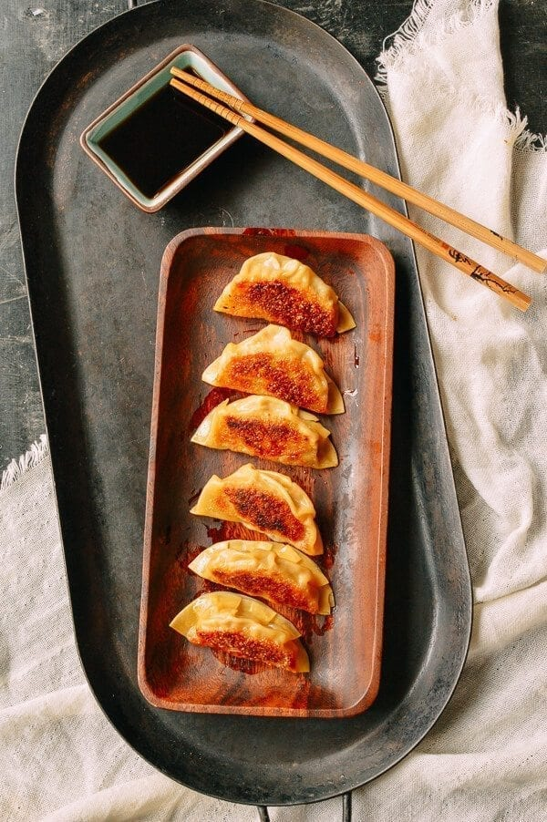 Japanese Gyoza Dumplings, by thewoksoflife.com