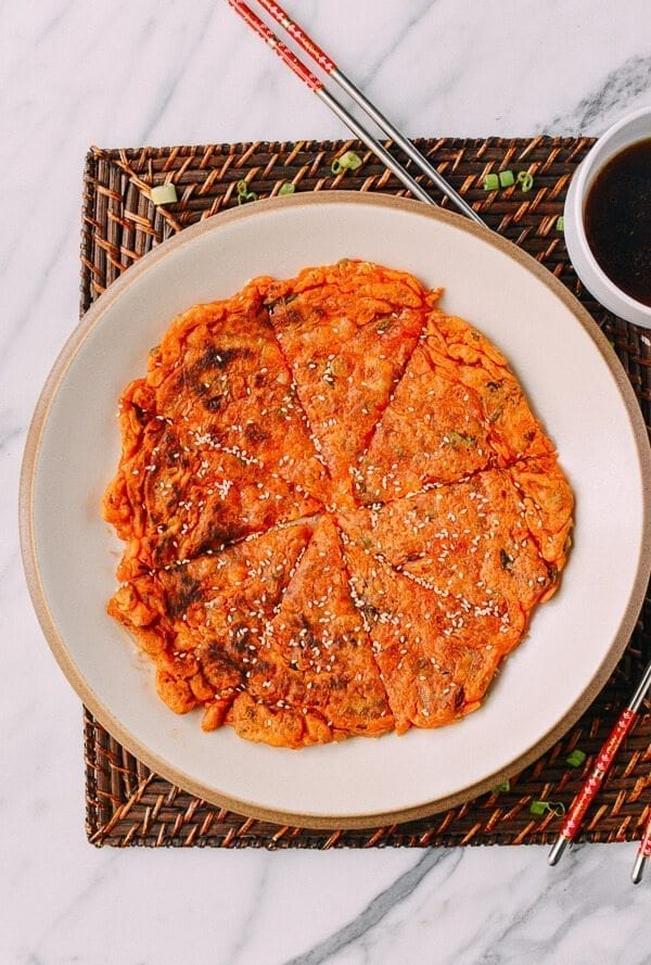 Kimchi Pancake, by thewoksoflife.com