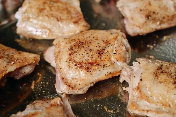 Mediterranean Chicken Thighs, by thewoksoflife.com