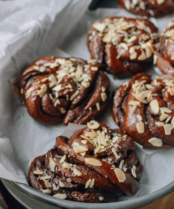 Chocolate Nutella Rolls, by thewoksoflife.com