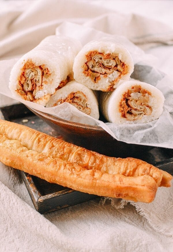 Shanghai Breakfast Rice Rolls (Ci Fan 粢饭), by thewoksoflife.com