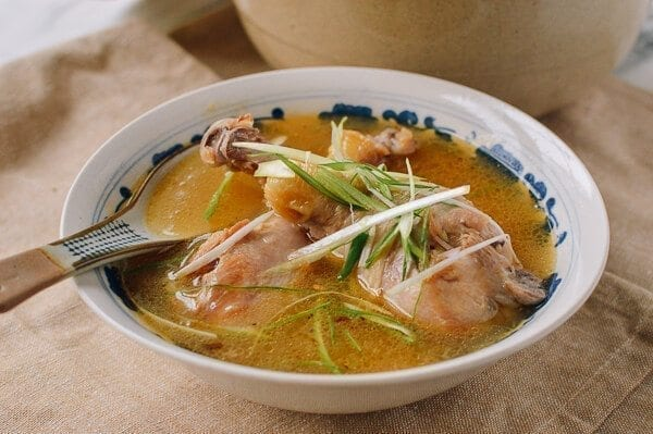 Taiwanese Sesame Oil Chicken Soup, by thewoksoflife.com