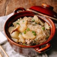 Braised Daikon with Salted Pork & Glass Noodles