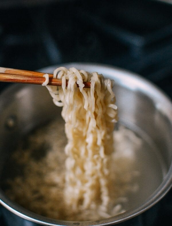 Quick and Easy Kimchi Ramen, by thewoksoflife.com